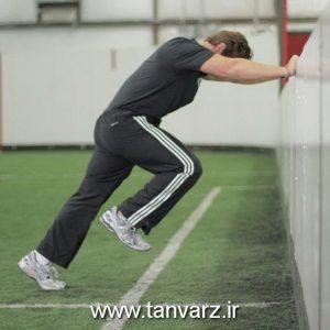 حرکت درجا زدن سریع رو به دیوار